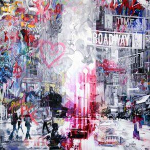 moderne streetart maleri af amerikansk storby