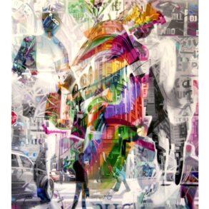BYMALERI ← Massere af liv og farver i storby maleri