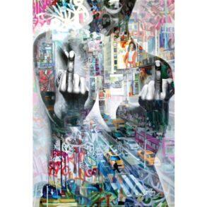 provokerende-kunst-maleri-af-stark-kvinde-1
