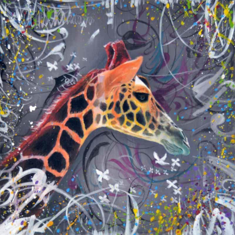 Abstrakt Kunst Til Salg → små maleri af dyr ← online salg af malerier. se giraf her