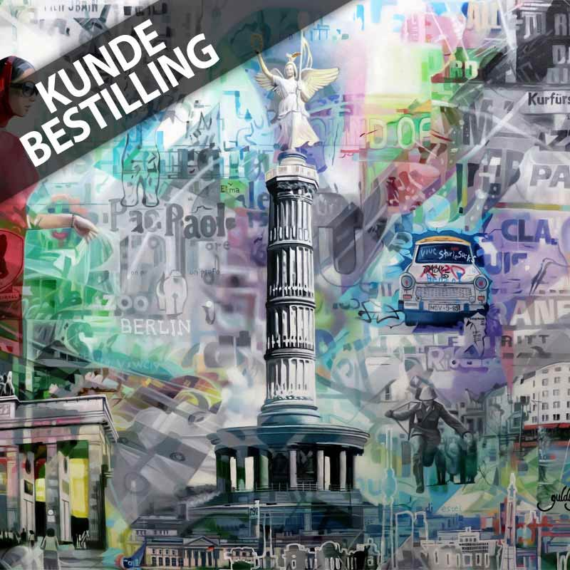 aflangt maleri af storbyen berlin berlin maleri er 120x80 cm. Black Bedroom Furniture Sets. Home Design Ideas