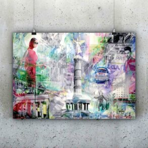 plakat af Berlin i flotte farver