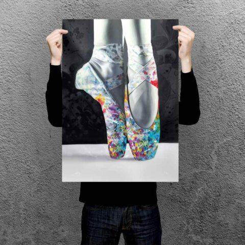 Plakat af balletdanser
