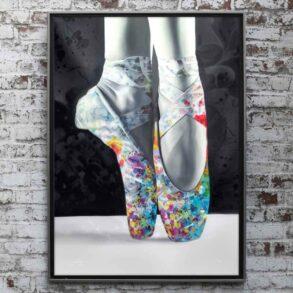 Farverig Plakat af balletsko