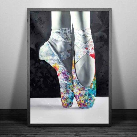 farverig balletsko plakat