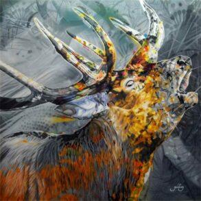 Moderne kunst maleri af dyr
