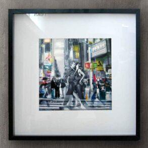 moderne bymaleri med stærk symbolsk fortælling