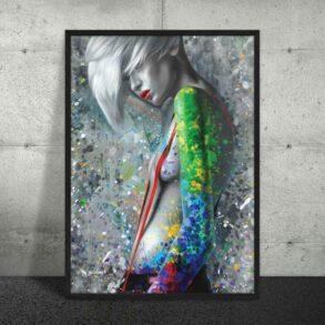 Moderne maleri af kvinde