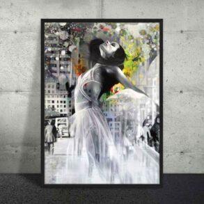 Design plakat af det moderne maleri