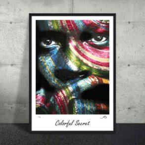 Afrikansk farverig plakat