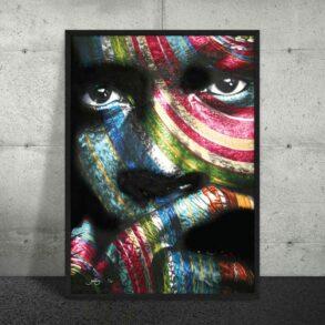 flot farverig og moderne plakat