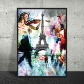 By Plakat af Paris i flotte farver
