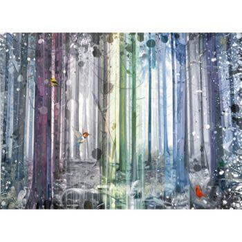 Maleri af natur og skov