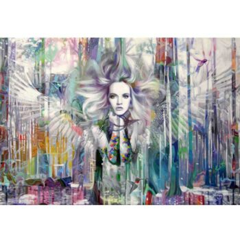 Maleri af naturen, en farverig engel og kontrasten