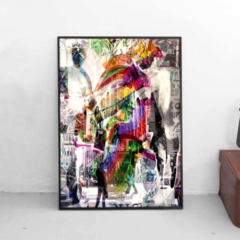 → Plakat af storby ← Kunstplakat af New York i flotte farver - Se ...