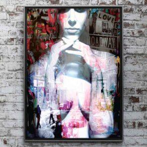 moderne plakat til stuen i flot udtryk