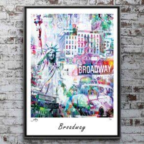 USA Plakat ← Plakat af USA, frihedsgudinde, broadway