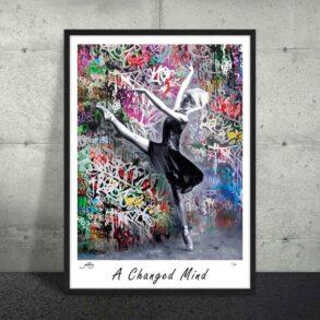 grafitti plakat i flotte skarpe farver