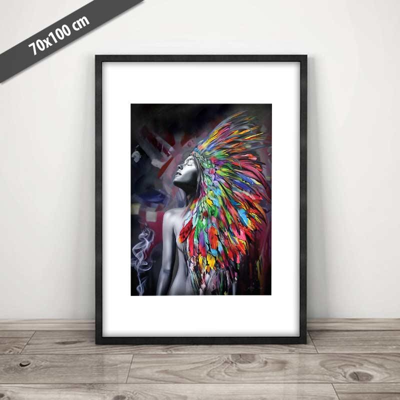 Groovy → Dansk plakat af indianer ← Dansk plakatkunst - Se billeder her HE53