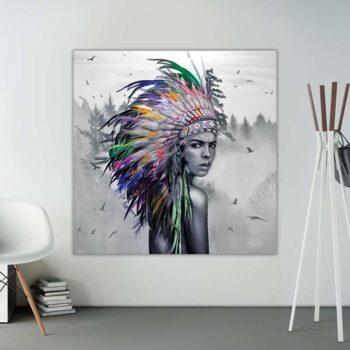maleri af indianer