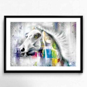 Kunsttryk med hest