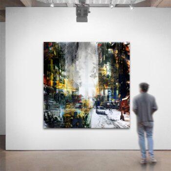 Maleri af storby