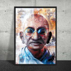 Plakat af Gandhi