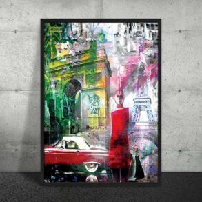 Plakat af gamle Paris