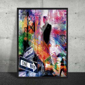 Plakat af levende by