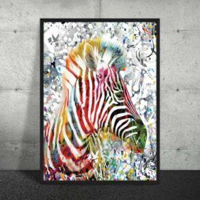 Plakat af zebra