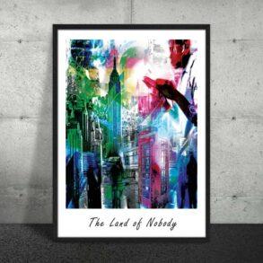 Plakat af storby i farver