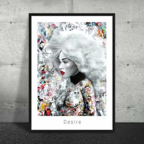 Plakat med tatoveret kvinde