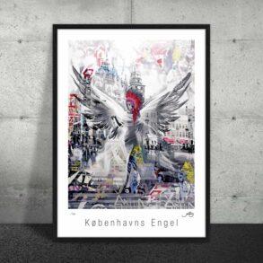 Plakat af engel