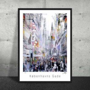 Plakat af københavns gader