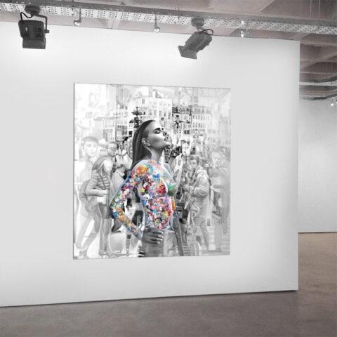 Unikt maleri af dansk kunstner