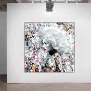 Maleri af afrokvinde