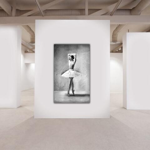 Maleri af smuk balletdanser