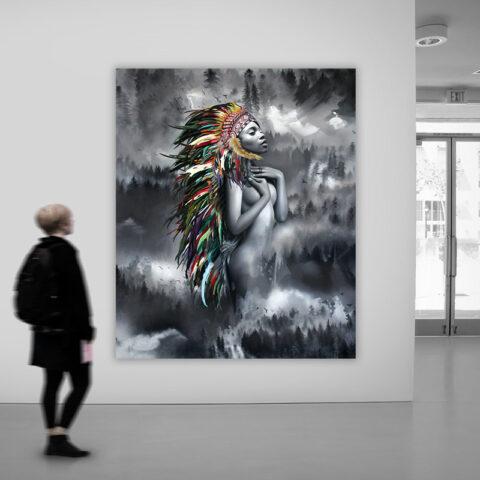 Unikt indianer maleri