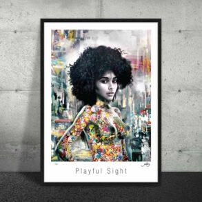 Plakat af smuk afro