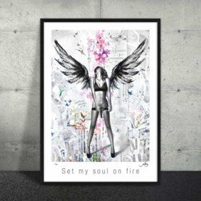 Plakat af rebelsk engel