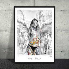Plakat af rebelsk kvinde
