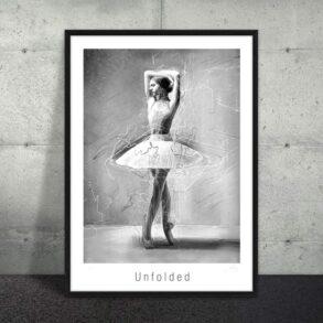 Smuk plakat af balletdanser