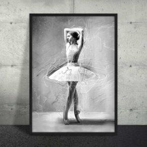Plakat i sort hvid