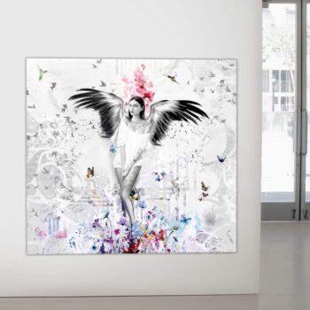Unikt maleri med engel