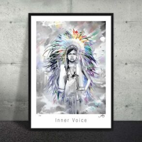 Plakat af indianer barn