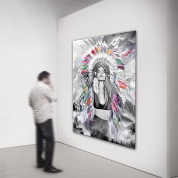 Maleri af moderne kvinde