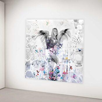Maleri af smuk engel