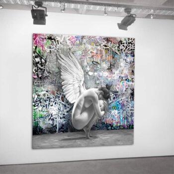 Unikt maleri med grafitti