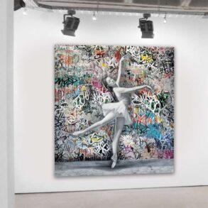 Maleri af smuk danser
