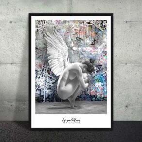 Smuk engel som plakat